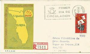 FDC-Sobre-Primer-dia-Espana-edifil-1674-Fundacion-de-San-Agustin-Florida-1965