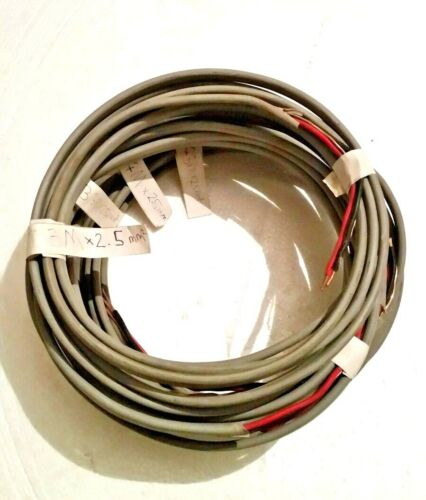 Old colour twin and earth cable 1.0mm and 2.5mm Red and Black