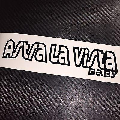 LARGE GLOSS GOLD Astra La Vista Baby Car Sticker Decal Vauxhall Opel VXR OPC gtc