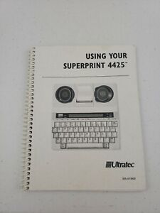 Ultratec-Superprint-4425-MANUAL-ONLY
