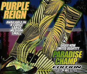 Details about NIKE Lebron 10 X 2 Time Championship Pack Custom Nike Elite Socks (ALL SZ) BEACH