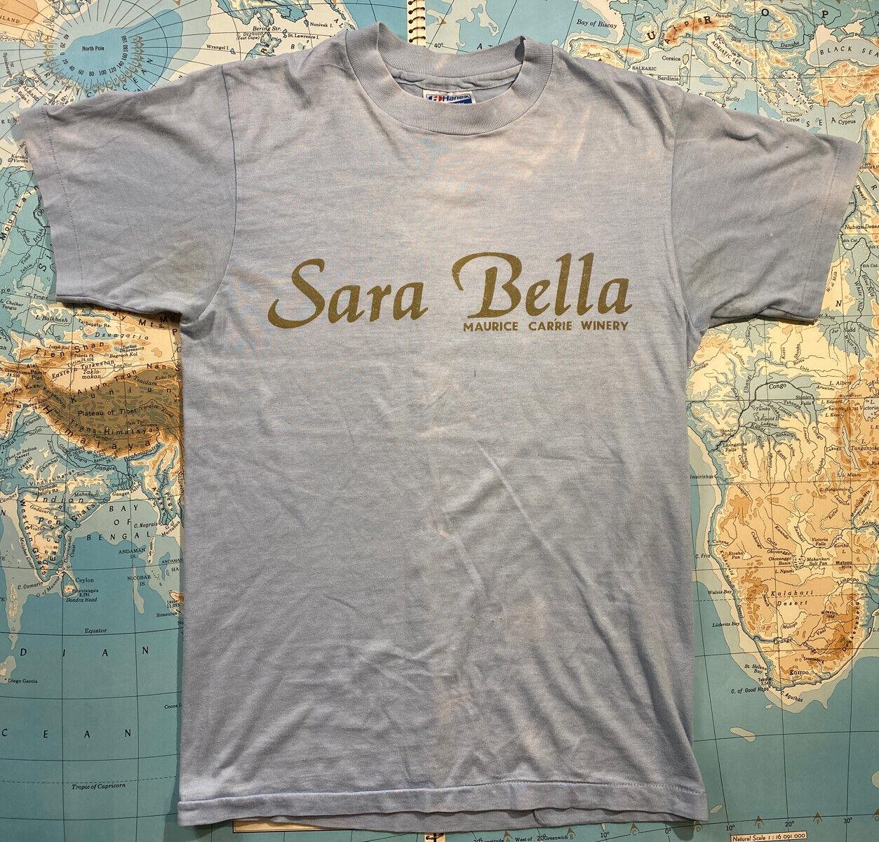 VTG 80s Tシャツ Maurice Carrie Winery Sara Bella Cab Sav Rose Thin Soft スラッシュ