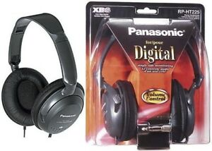 Panasonic-RP-HT225-Full-Size-Monitor-DJ-Headphones-with-XBS-Original-Brand-New