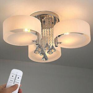 Details zu 3 Flammig LED Kristall Deckenleuchte Wohnzimmer Kronleuchter  Warmweiß RGB Design
