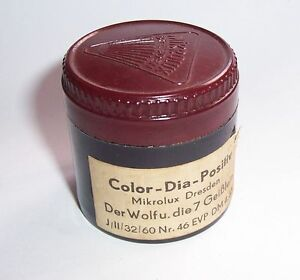 DDR-Rullo-Pellicola-Diafilm-Mikrolux-Scatola-Bachelite-Il-Lupo-amp-La-7-Geislein