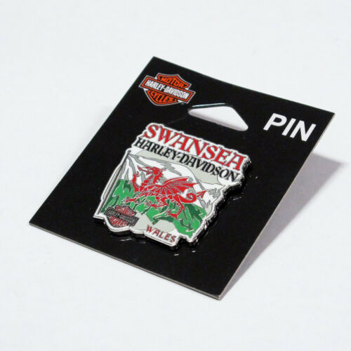 Harley Davidson Swansea Welsh Flag Pin Badge