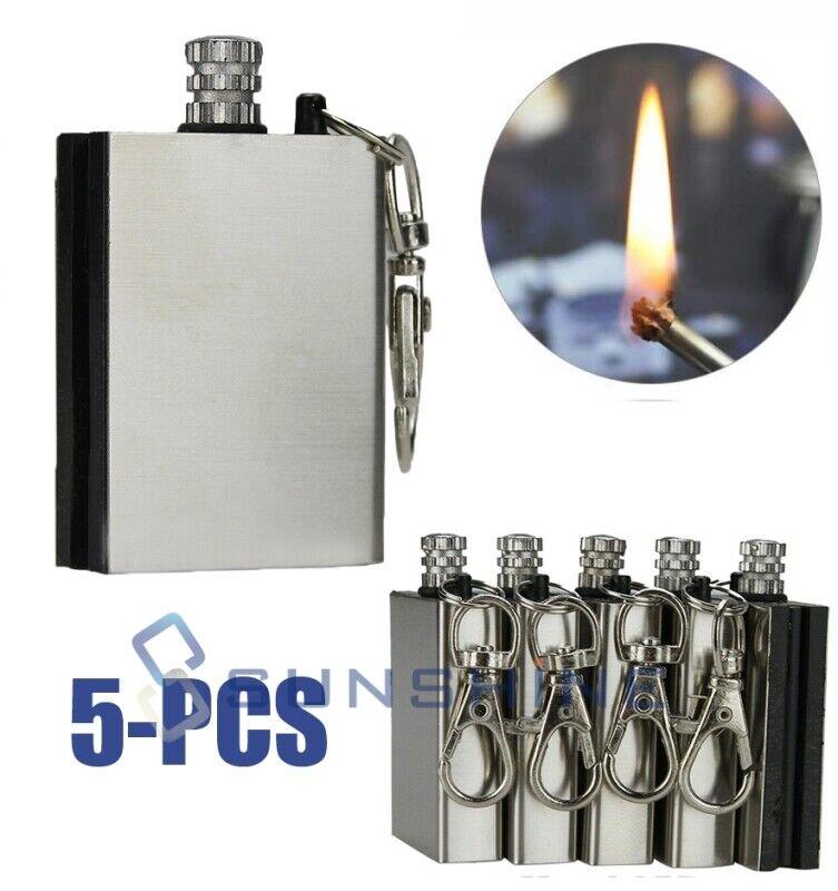 Fire Starter Multi Emergency Flint Match Lighter Camping Survival Keychain Kit✅