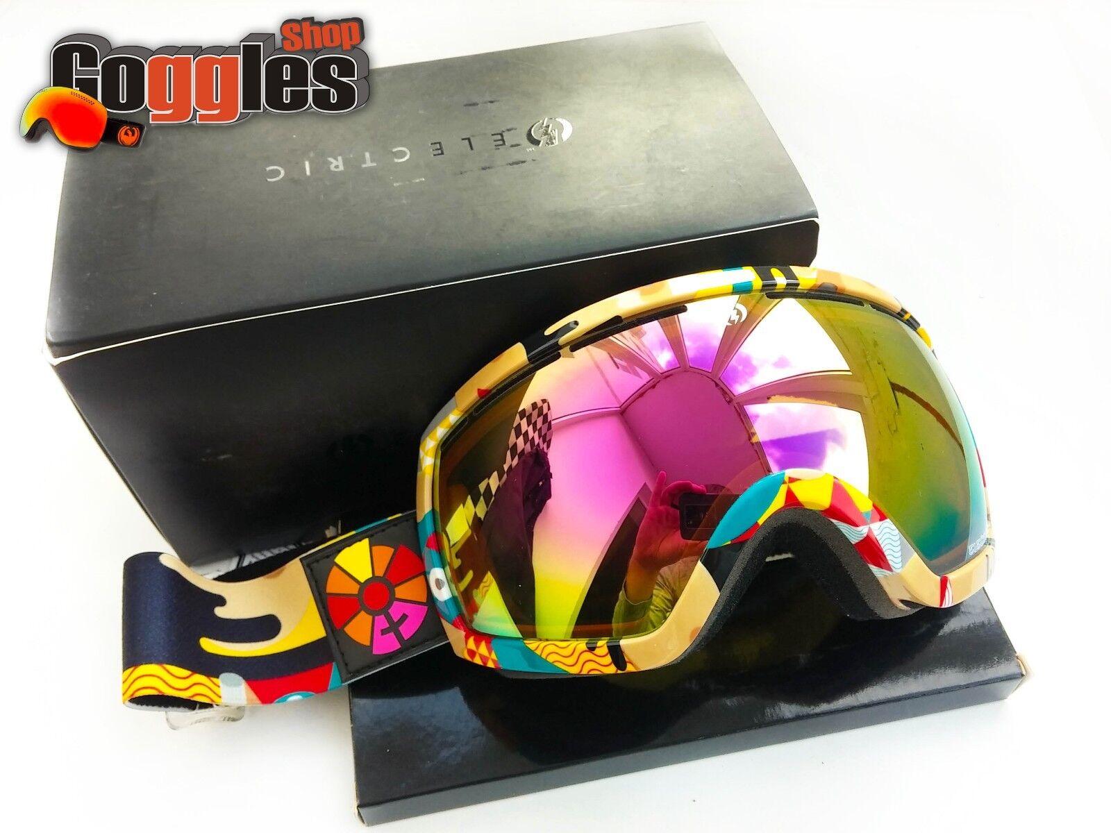 Rare Electric EG2.5 B4BC Snow Goggles Bronze  Pink Chrome Lens Ski Snowboard