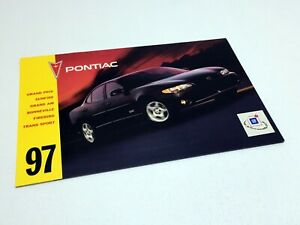 1997 Pontiac Driving Excitement Brochure Firebird Grand Prix Grand Am Sunfire