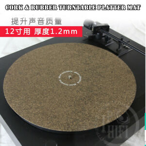 1pcs Cork Amp Rubber Turntable Platter Mat Slipmat Anti