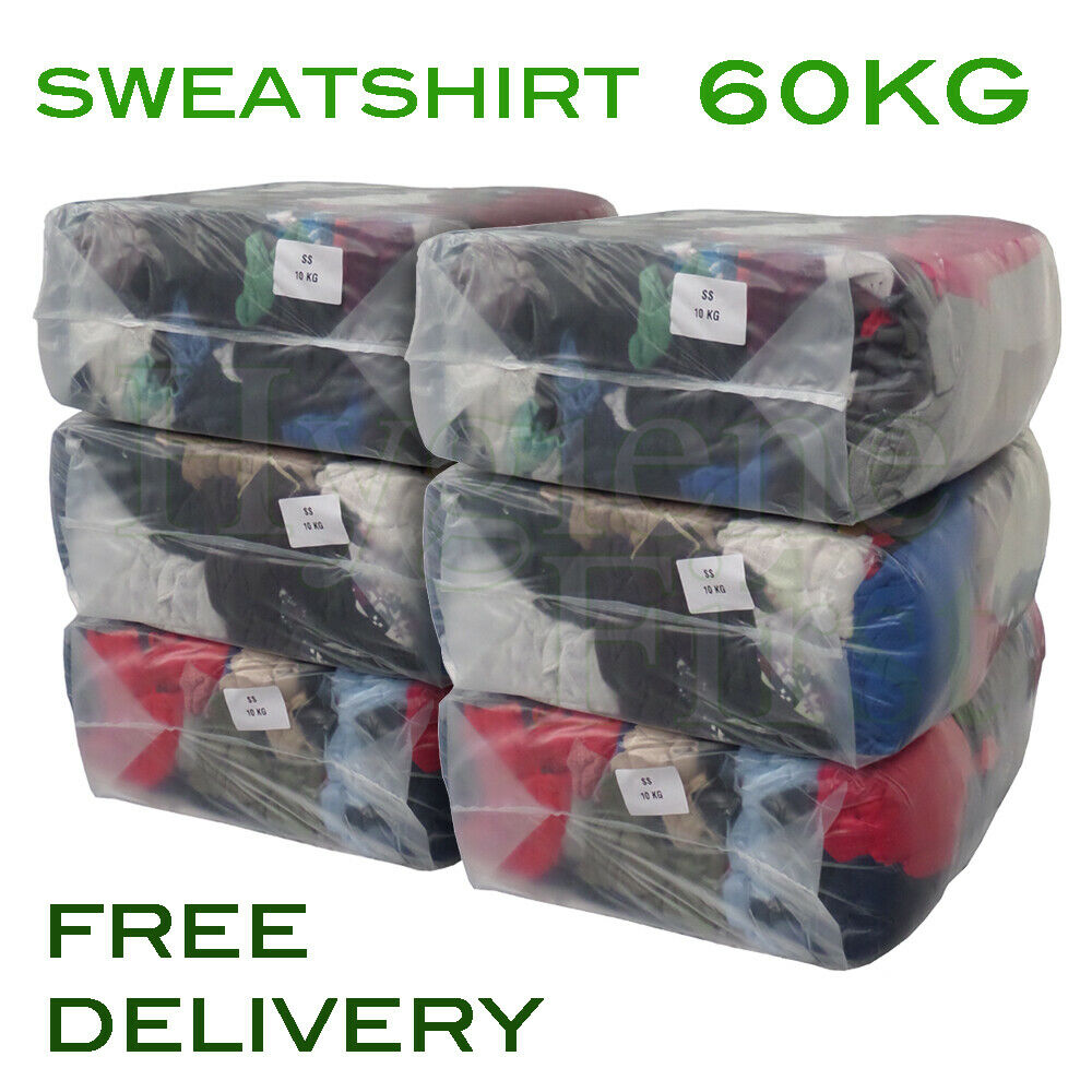 60Kg Bag Of Rags Colourot Colourot Colourot Sweatshirt Wiper Garage Wiping Polishing Cloth 9bfe26