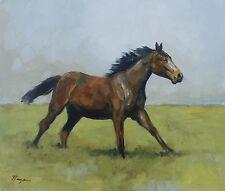 Original Oil painting - wildlife art - horse portrait - by j payne