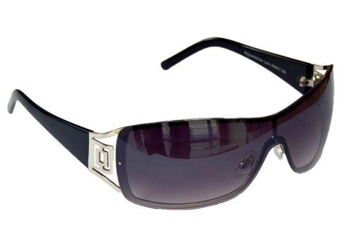 Sonnenbrille Damenbrille Brille Schwarz Silber Monoglas Sportlich Damen M 41