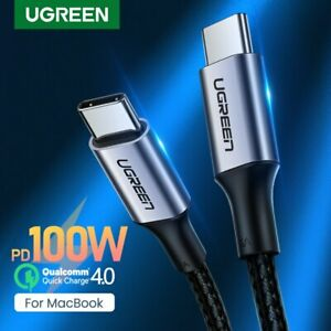 Ugreen USB C to USB C Cable PD 100W Fast Quick Charge Fr MacBook Pro iPad Pro 20
