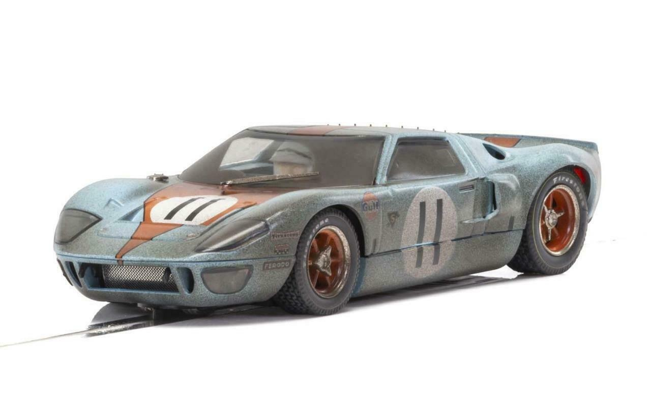 Scalextric - C4106 - Ford GT40 Gulf No.11 Weathered - BRAND NEW RELEASE