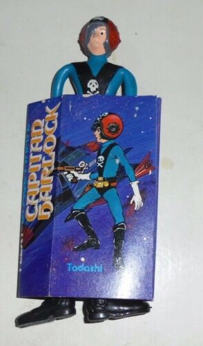 Ceppi Ratti Capitan Harlock TADASHI Bendable Flexi in Gomma VINTAGE NEW