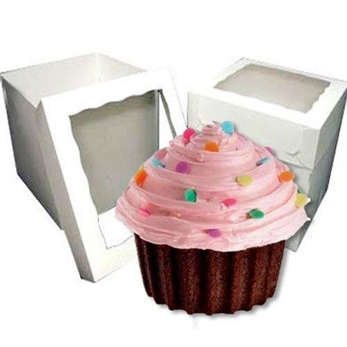 25 Giant Jumbo Big Cupcake Window Boxes ( 4.50 per box)