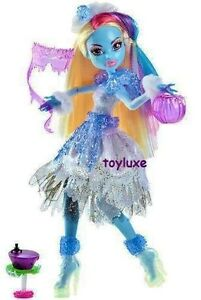 Monster high doll ghouls rule abbey bominable yeti new costume party mask set ebay - Masque monster high ...
