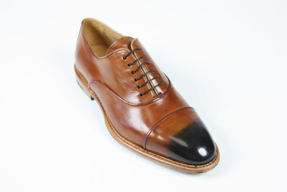 Venta Sutor Mantellassi Zapatos  FINAL 6 UK 7 US Patinado Marrón captoe Oxford