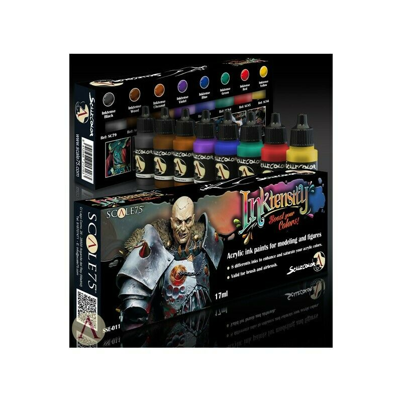 Scale 75 Inktensity Inks Boost your Colours Acrylic Paint Set 8 Bottles
