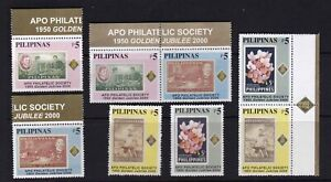 Philippines-2000-Chess-Orchids-Flowers-4v-Setenant-pair-in-set-Mint-NH