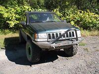 1993-98 Jeep Grand Cherokee Zj Winch Stinger Front Bumper
