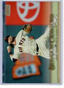 Brandon Crawford 2019 Topps Stadium Club 5x7 Gold #263 /10 Giants