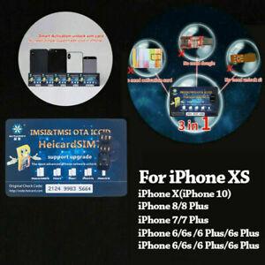 Heicard Unlock Turbo SIM Card For iPhone X XR XS Max 8 7 6 Plus SE 5 4G ICCID aa