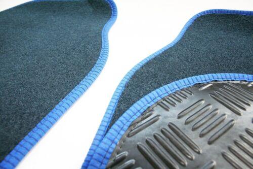 Fiat X1//9 1972-82 Navy 650g Carpet /& Blue Trim Car Mats Rubber Heel Pad