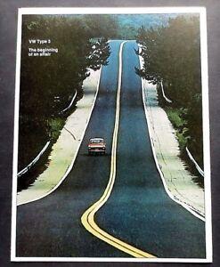ORIGINAL-1973-VOLKSWAGEN-TYPE-3-FASTBACK-BROCHURE-6-PAGES-US-VERSION-VW3