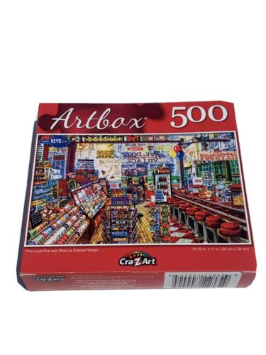 BRAND NEW Artbox 500 Small Piece Puzzle The Local Five and Dime Jigsaw NIB