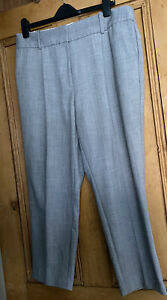 M-amp-s-Collection-Femme-Sur-Mesure-Smart-Straight-Pantalon-Taille-UK-16-short-gris-EXC