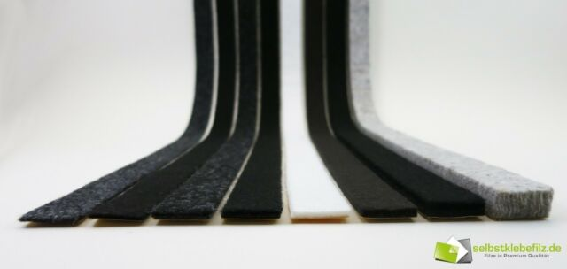 Felt Band Black Grey White Brown Felt Strip Self Adhesive 35mm 2-10mm Thick