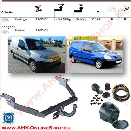 AHK ES13 Peugeot Partner Bj.1996-2008 Anhängevorrichtung Anhängerkupplung AHZV