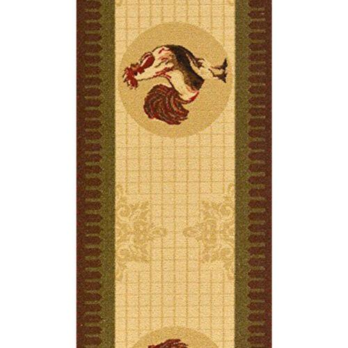 Rooster Rug Runner Kitchen Long Chicken Washable Non Slip Floor Hall Antique Mat