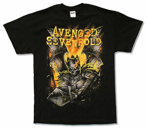 Avenged-Sevenfold-Shepherd-Of-Fire-2014-Tour-BC-OH-Black-T-Shirt-New-A7X