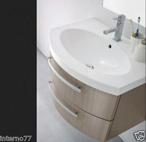 Mobile bagno curvo sospeso 2 cassetti vari colori - Mobile bagno curvo ...