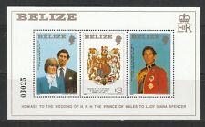 s443) Lady Diana u.Prinz Charles: Belize Block 32 **! 2 Scans!
