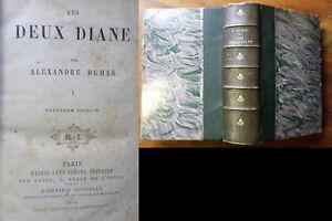 Les-deux-Diane-A-DUMAS-1874-3-tomes-en-1-volume-complet
