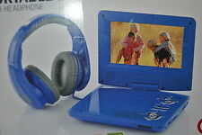 17.75cm Portable DVD Player with Headphone PDVD768A Blue