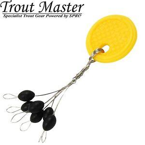 Trout Master Sbirolino Stopper Olive - 6 Gummistopper, Knotenschützer