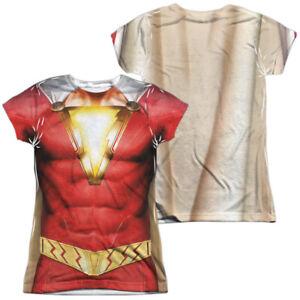 d24ddedcb Image is loading Authentic-Shazam-Movie-Uniform-Costume-Sublimation -Front-Back-