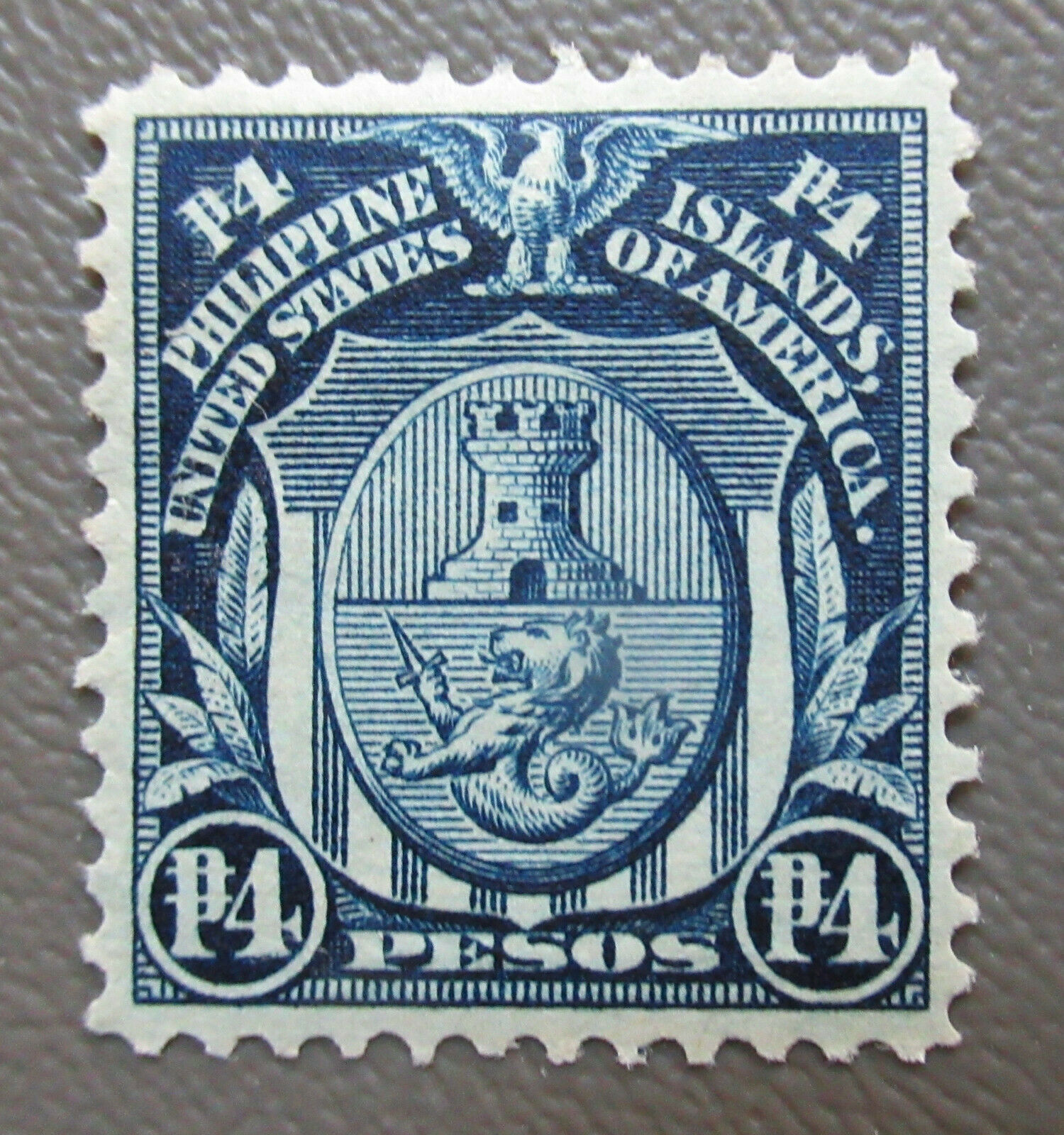 US Philippines 1906 4P Stamp #253 MNG. CV $160