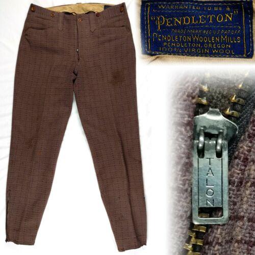 Vintage 1930s 1940s Pendleton Heavy Brown Wool Pla