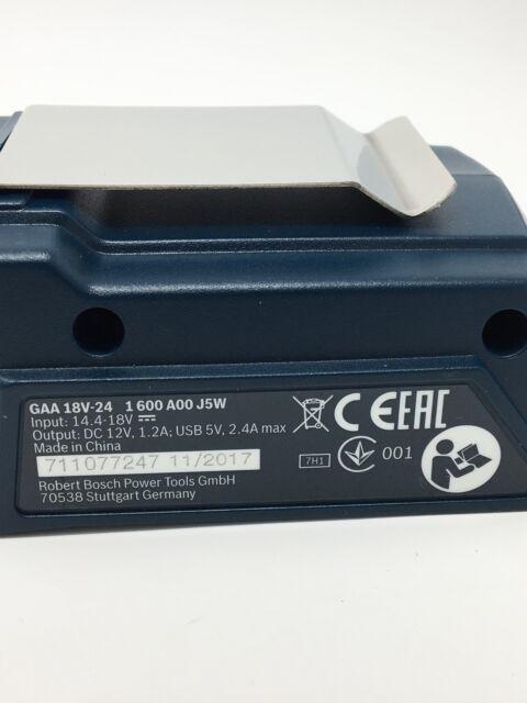 BOSCH Akku-Adapter USB-Ladegerät GAA 18 V-24 1600A00J61 ohne Akku 1600A00J5W