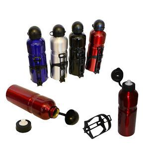 trinkflasche f r fahrrad fahrradflasche mit halter sport flasche aluminium ebay. Black Bedroom Furniture Sets. Home Design Ideas