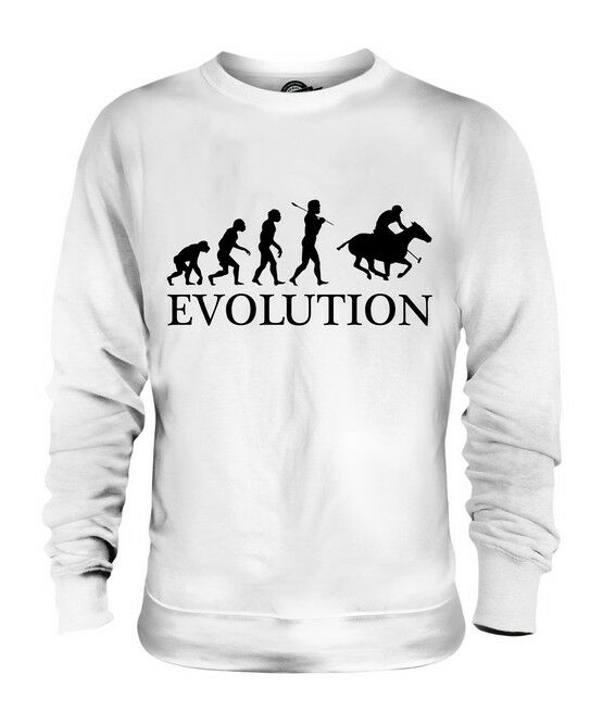 POLO EVOLUTION OF MAN UNISEX SWEATER  Herren Damenschuhe LADIES GIFT HORSE RIDING RIDER