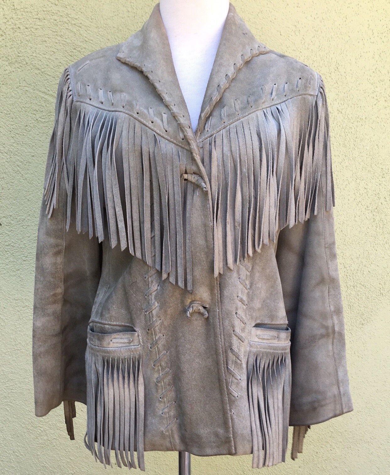 Vintage Western Fringed Leather Jacket - image 1