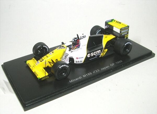 Minardi m189 n. 23 PAOLO BARILLA-Japanese GP 1989