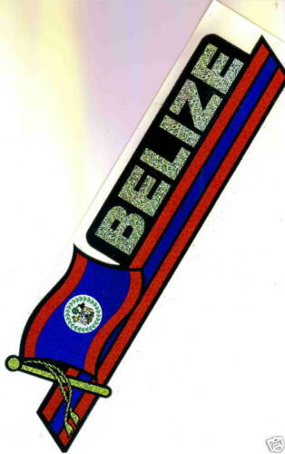 Belice Large Flag Stickers LOT of 5 NEW Belize
